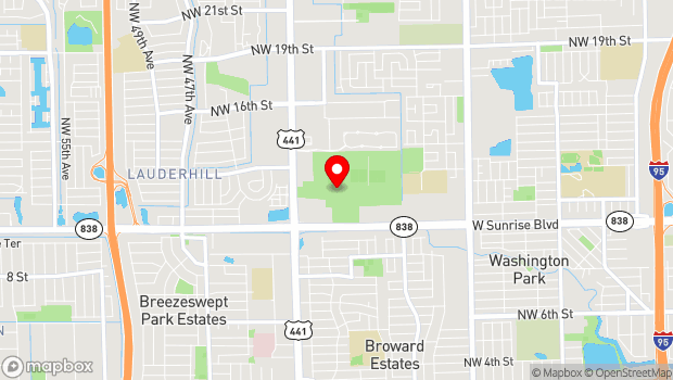 Google Map of 3700 NW 11th Place, Lauderhill, FL 33311