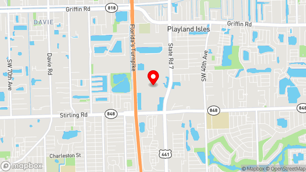 Google Map of 1 Seminole Way, Fort Lauderdale, FL 33314