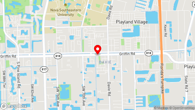 Google Map of 6650 Griffin Road, Fort Lauderdale, FL 33314