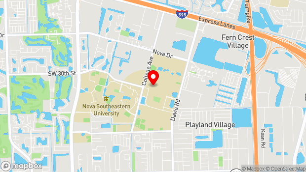 Google Map of 3501 Davie Road, Fort Lauderdale, FL 33314