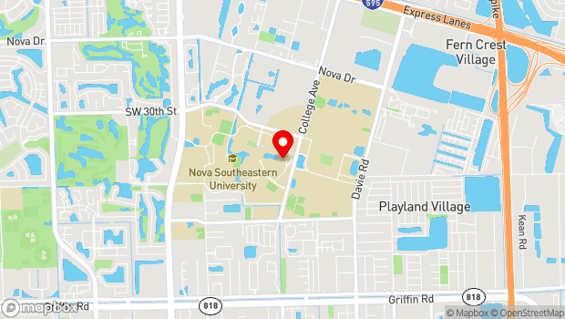 Google Map of 3301 College Avenue, Fort Lauderdale, FL 33314