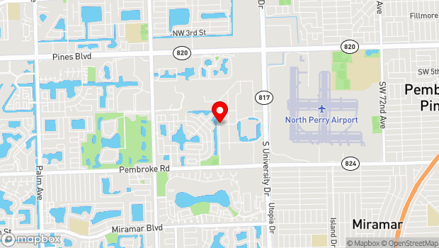 Google Map of 1101 Poinciana Drive, Pembroke Pines, FL