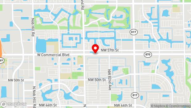 Google Map of 8601 W Commercial Blvd, Fort Lauderdale, FL 33321