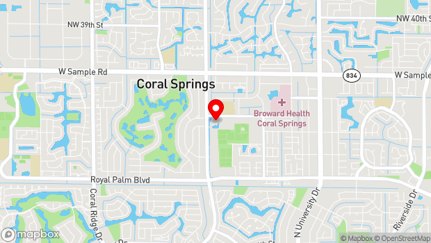 Google Map of 2855 Coral Springs Drive, Coral Springs, FL 33065