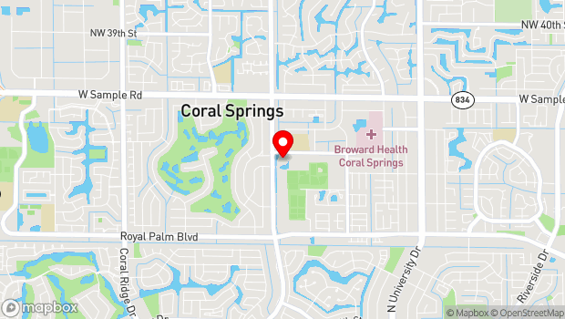 Google Map of 2855A Coral Springs Drive, Pompano Beach, FL 33065