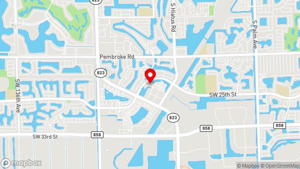 Google Map of 2050 Civic Center Place , Miramar, FL 33025
