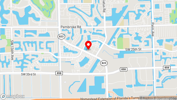 Google Map of 2400 Civic Center Place, Miramar, FL 33025