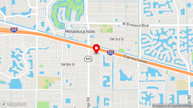 Google Map of 751 SW 121st Ave, Davie, FL 33325