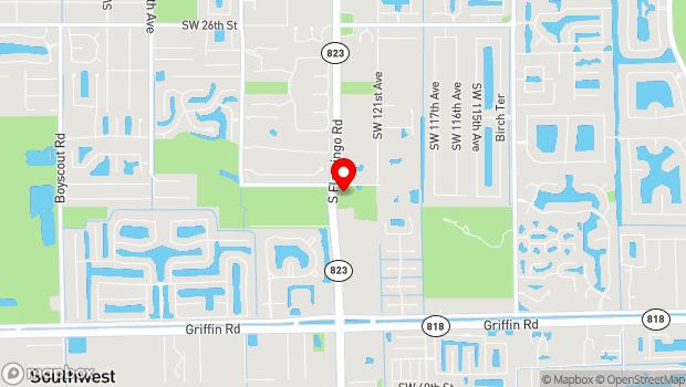 Google Map of 3750 South Flamingo Road, Davie, FL 33019