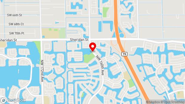 Google Map of 1700 Dykes Road, Pembroke Pines, FL 33026
