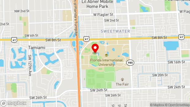Google Map of Modesto A. Maidique Campus, 10910 SW 17 St., Miami, FL 33199