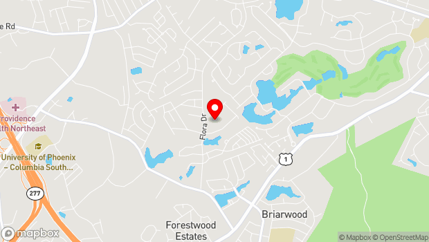 Google Map of 306 Flora Drive, Columbia, SC 29223