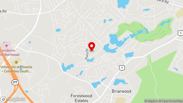 Google Map of 306 Flora Drive, Columbia, SC 29223