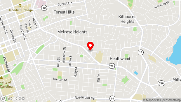 Google Map of 3142 Carlisle Street, Columbia, SC 29205, Columbia, SC 29205