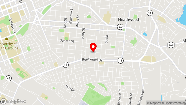 Google Map of Columbia, SC 29205