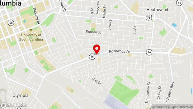Google Map of 2719 Rosewood Drive, Columbia, SC 29205