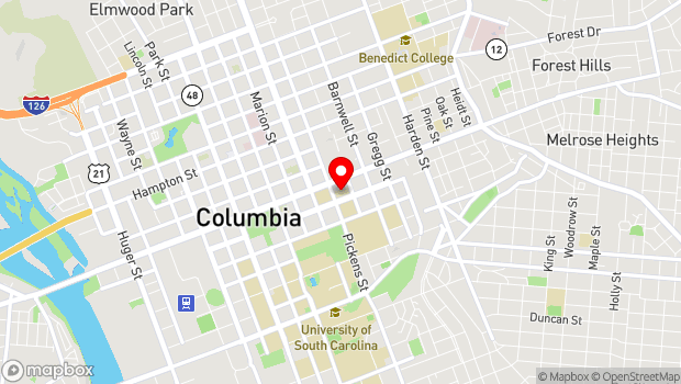 Google Map of 1615 Senate Street, Columbia, SC 29201