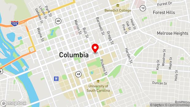 Google Map of 1500 Senate Street, Columbia, SC 29201