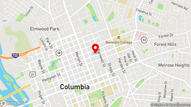 Google Map of 1703 Taylor Street, Columbia, SC 29201