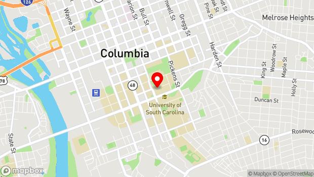 Google Map of 1322 Greene Street, Columbia, SC 29208