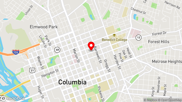 Google Map of 1616 Blanding Street, Columbia, SC 29201