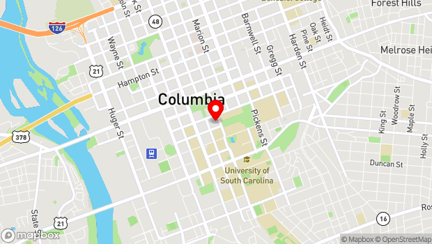 Google Map of 911 Sumter Street, Columbia, SC 29201