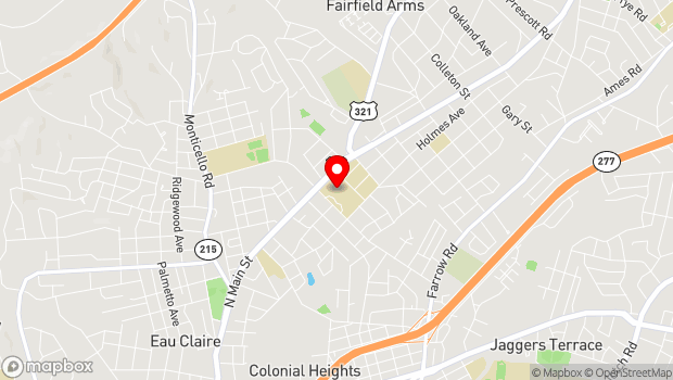 Google Map of 1301 Columbia College Dr, Columbia, SC 29203