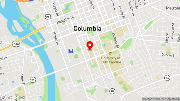 Google Map of USC Darla Moore School of Business, 1014 Greene Street, Columbia, SC 29208