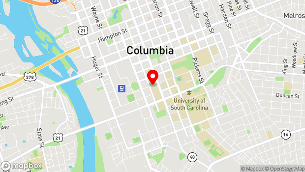 Google Map of 1014 Greene St, Columbia, SC 29208