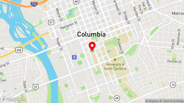 Google Map of 813 Assembly Street, Columbia, SC 29201