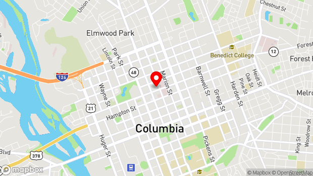 Google Map of 1227 Taylor Street, Columbia, SC 29201
