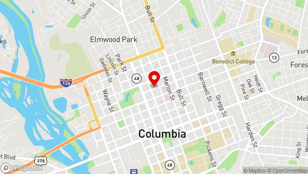 Google Map of 1213 Blanding Street, Columbia, SC 29201