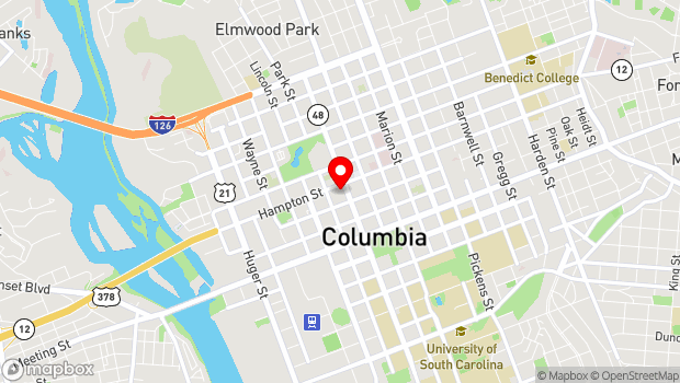 Google Map of 1431 Assembly St., Columbia, SC 29201