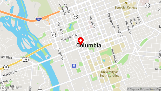 Google Map of 1211 Park Street, Columbia, SC 29201