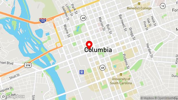 Google Map of 1211 Park Street, Columbia, SC 29201