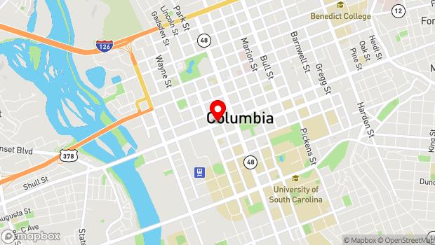 Google Map of 923 Gervais Street, Columbia, SC 29201