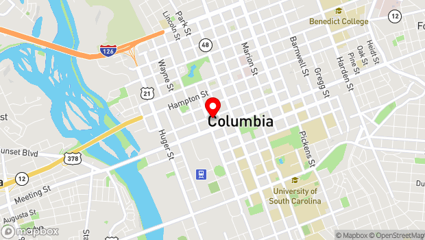 Google Map of 1224 Lincoln Street, Columbia, SC 29201