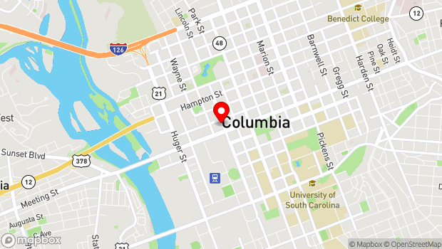 Google Map of 1223 Lincoln Street, Columbia, SC 29201