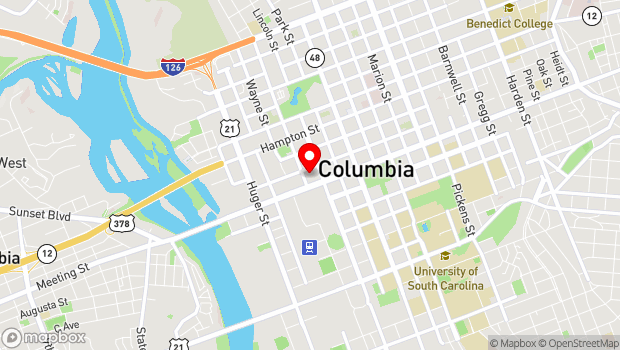 Google Map of 808 Lady Street, Columbia, SC 29201