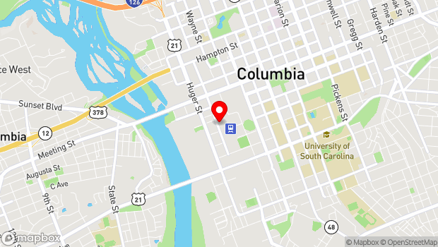 Google Map of 914 Pulaski Street, Columbia, SC 29201