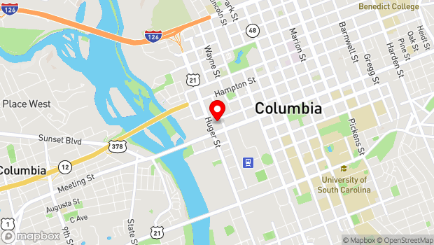 Google Map of 520 Lady Street, Columbia, SC 29201
