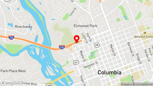 Google Map of 501 Elmwood Ave., Columbia, SC 29201