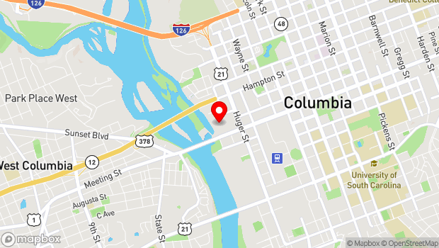 Google Map of 301 Gervais Street, Columbia, SC 29201