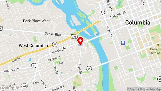 Google Map of 134 State Street, West Columbia, SC 29169