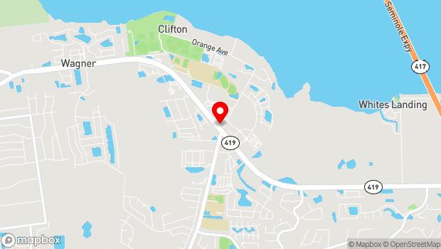 Google Map of 160 Tuskawilla Road, Winter Springs, FL 32708