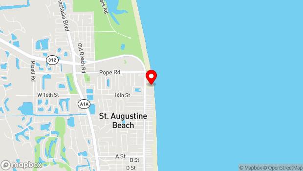 Google Map of 350 A1A Beach Blvd, St. Augustine, FL 32080