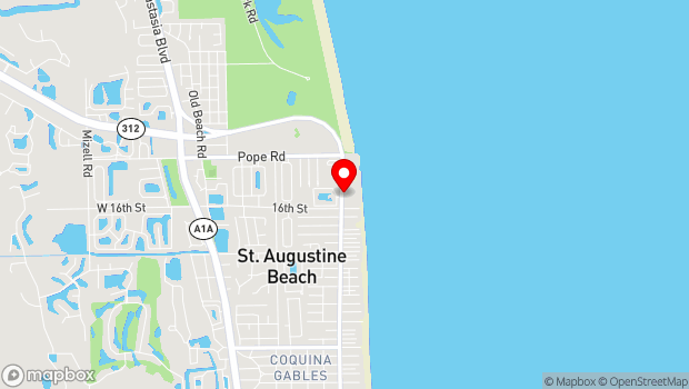 Google Map of 370 A A1A Beach Blvd., St. Augustine, FL 32080