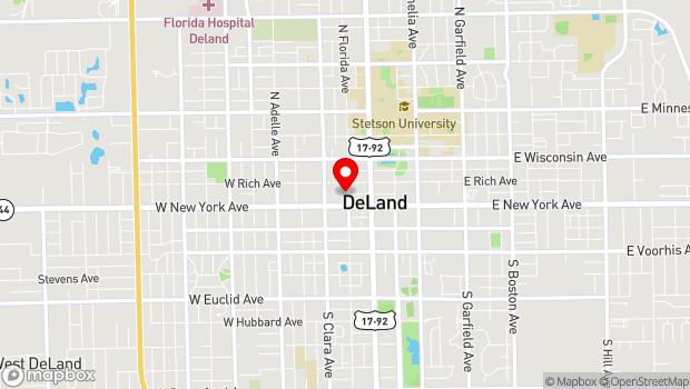 Google Map of 124 N. Florida Ave, Deland, FL 32720