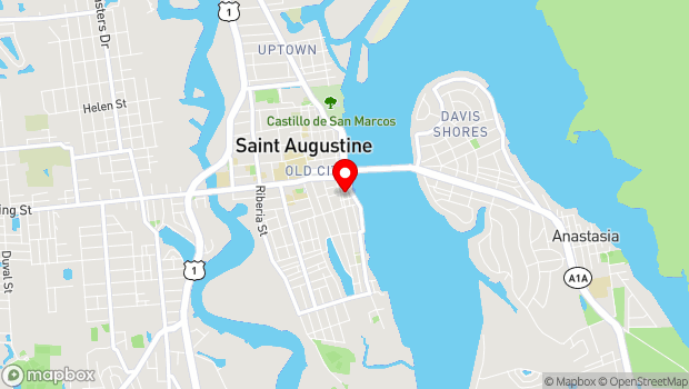 Google Map of 22 Marine Street, St. Augustine, FL 32084