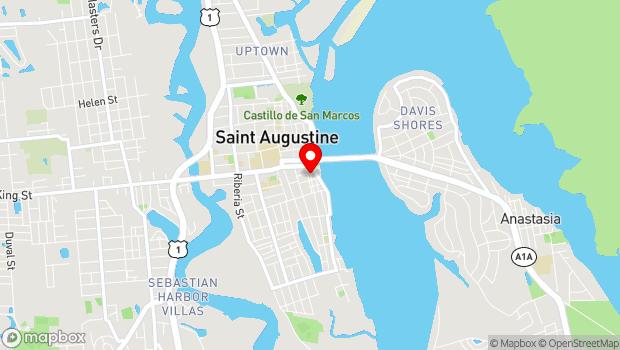 Google Map of 214 Charlotte Street, St. Augustine, FL 32084